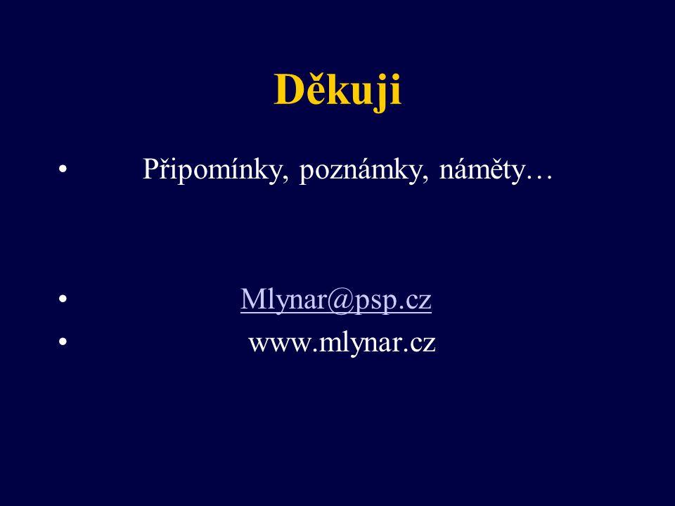 Děkuji Připomínky, poznámky, náměty… Mlynar@psp.cz www.mlynar.cz