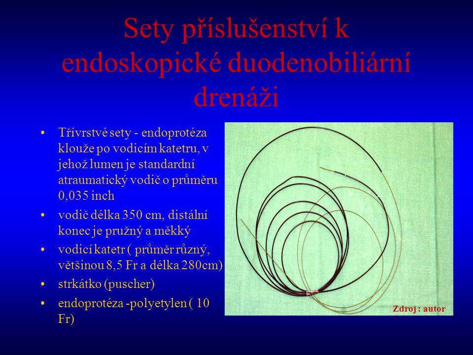 Sety příslušenství k endoskopické duodenobiliární drenáži