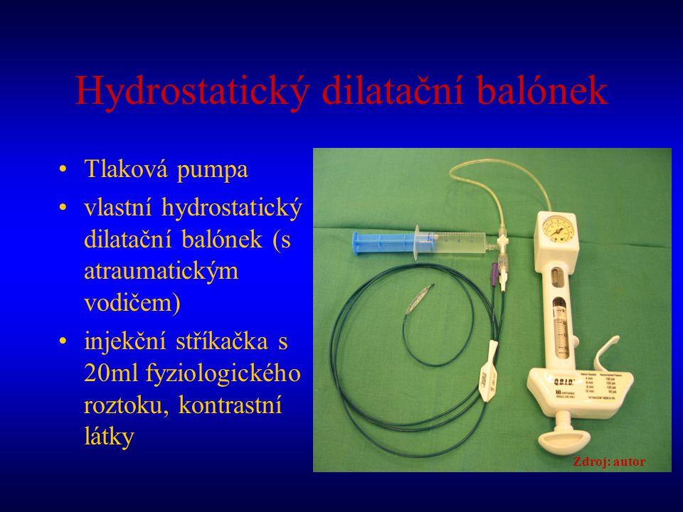 Hydrostatický dilatační balónek
