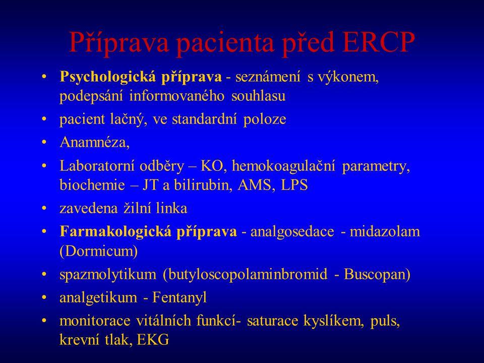Příprava pacienta před ERCP