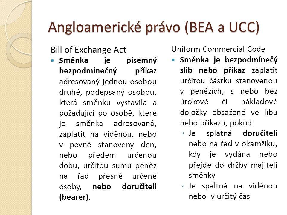 Angloamerické právo (BEA a UCC)
