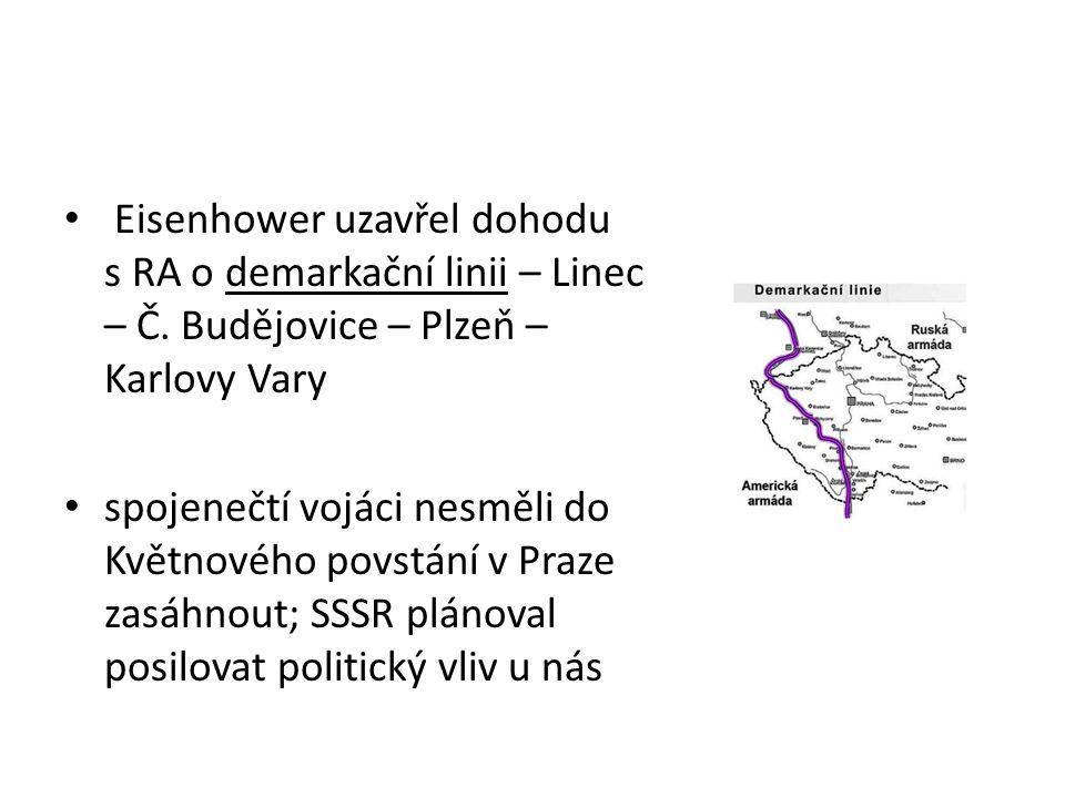 Eisenhower uzavřel dohodu s RA o demarkační linii – Linec – Č