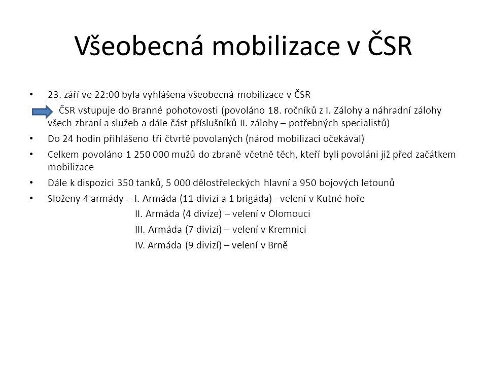 Všeobecná mobilizace v ČSR
