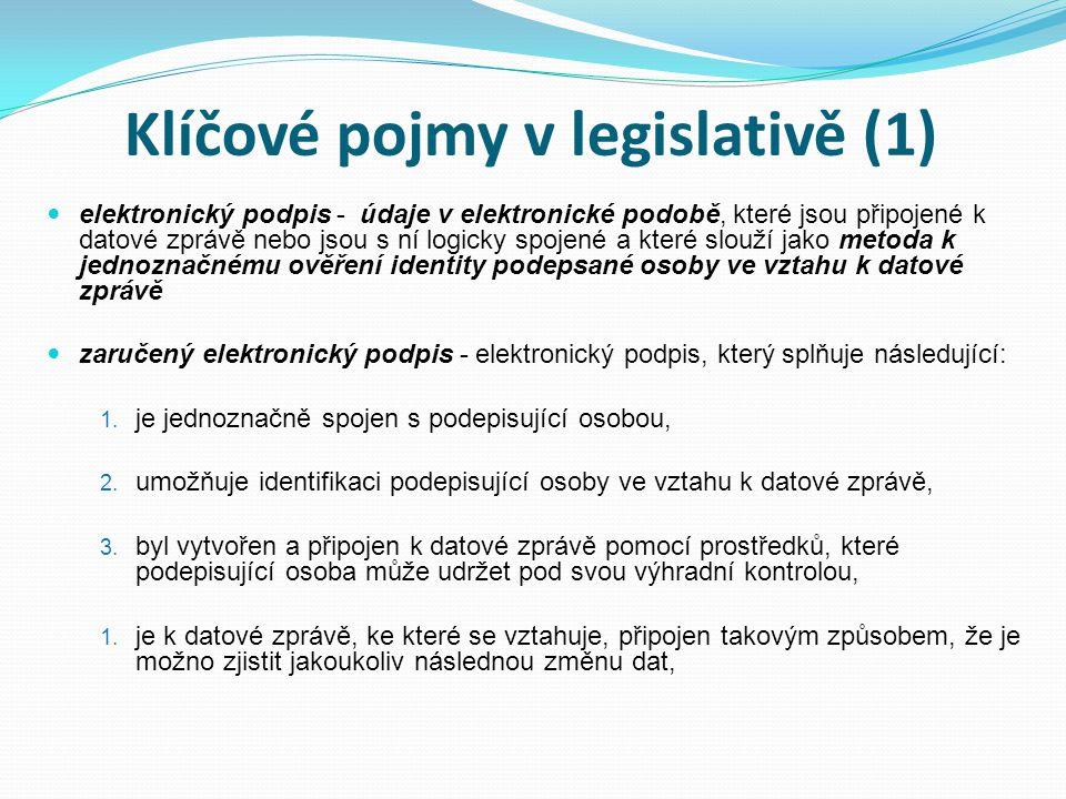 Klíčové pojmy v legislativě (1)
