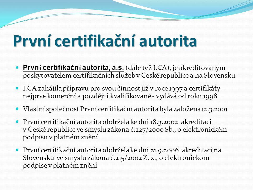 První certifikační autorita