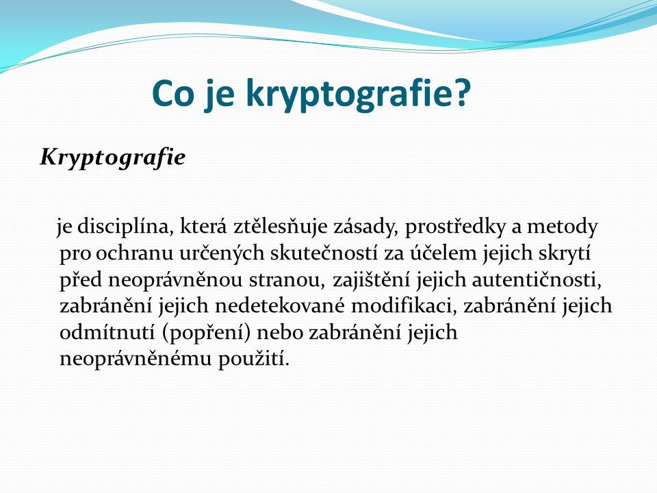 Co je kryptografie