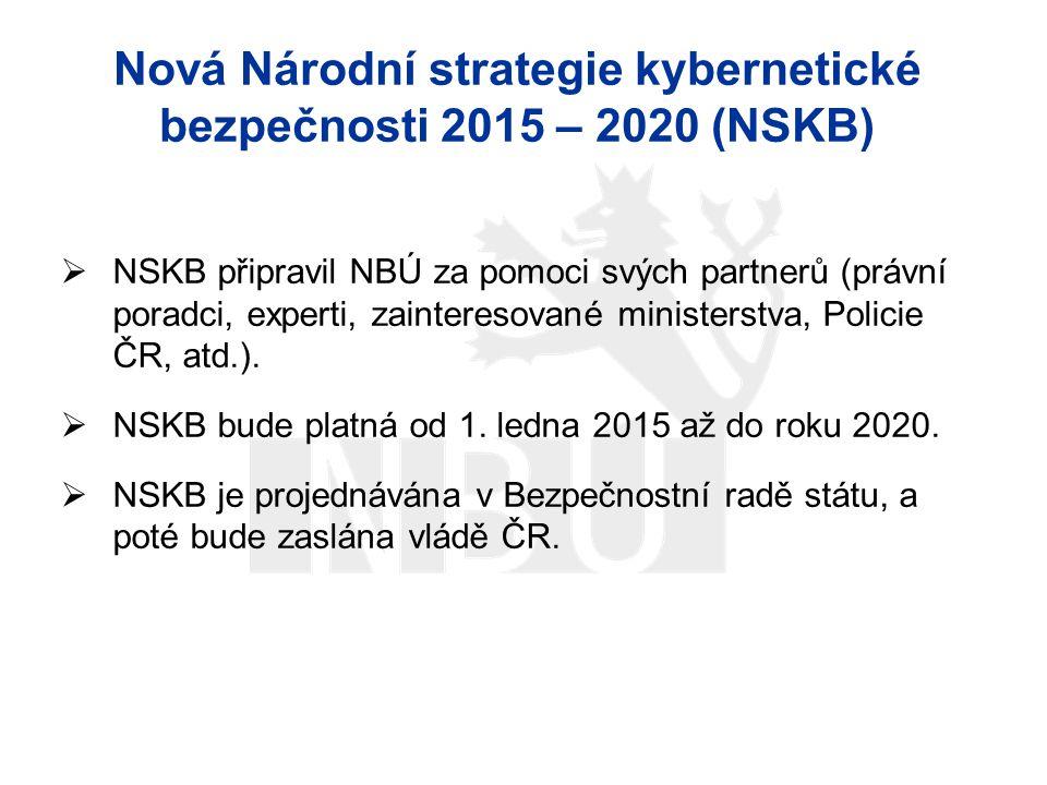 Nová Národní strategie kybernetické bezpečnosti 2015 – 2020 (NSKB)