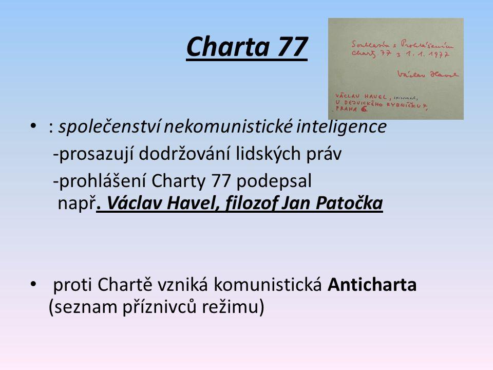 Charta 77 : společenství nekomunistické inteligence