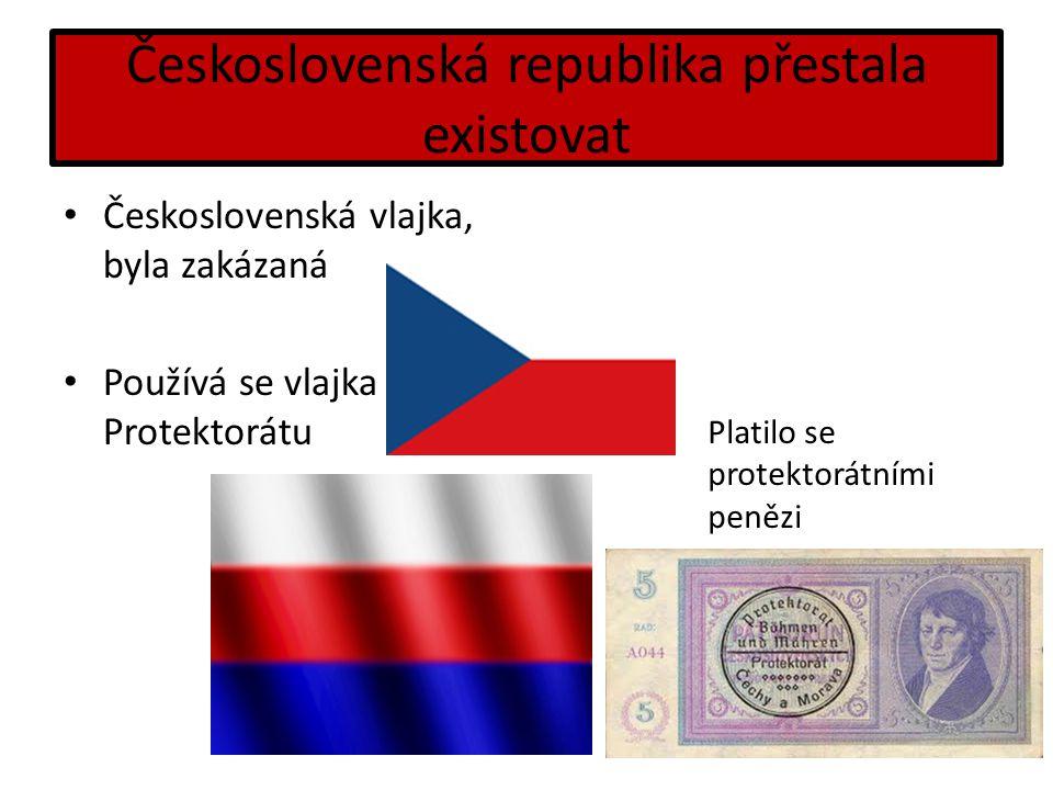 Československá republika přestala existovat