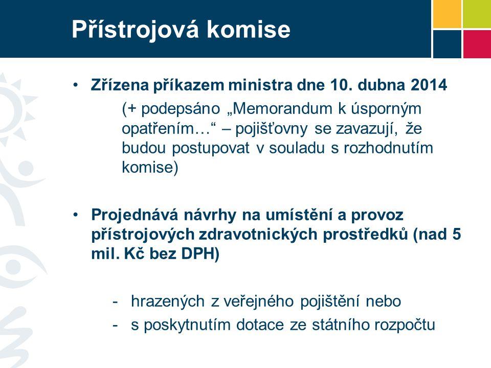 Přístrojová komise Zřízena příkazem ministra dne 10. dubna 2014
