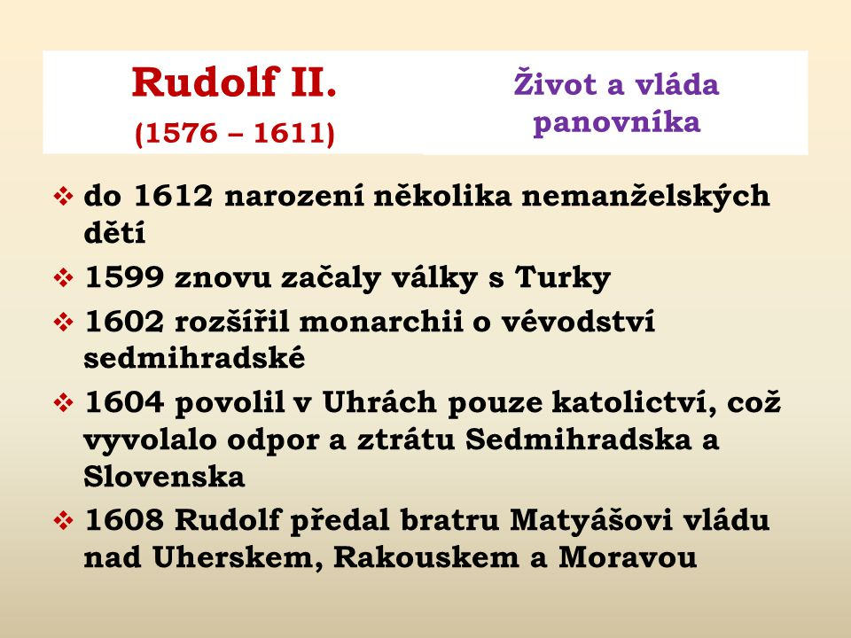 do 1612 narození několika nemanželských dětí