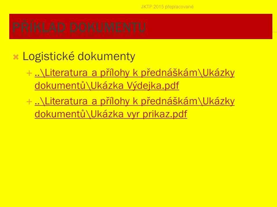 Příklad dokumentu Logistické dokumenty