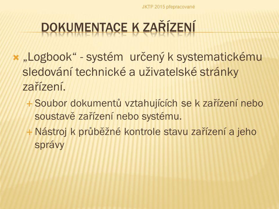 Dokumentace k zařízení