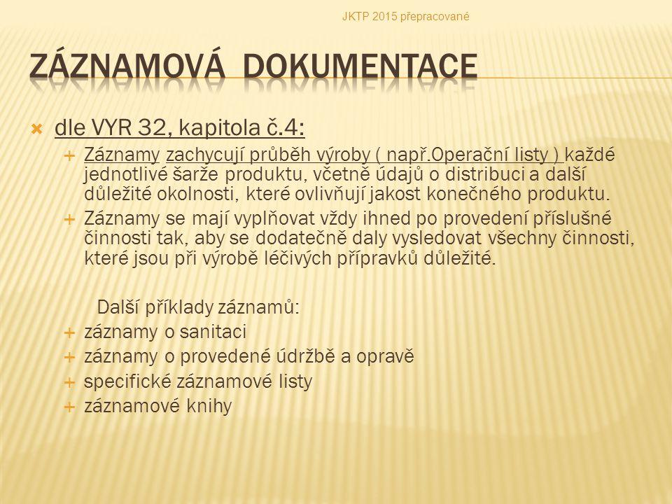 Záznamová dokumentacE