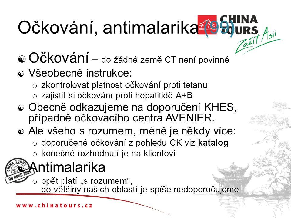 Očkování, antimalarika (99)
