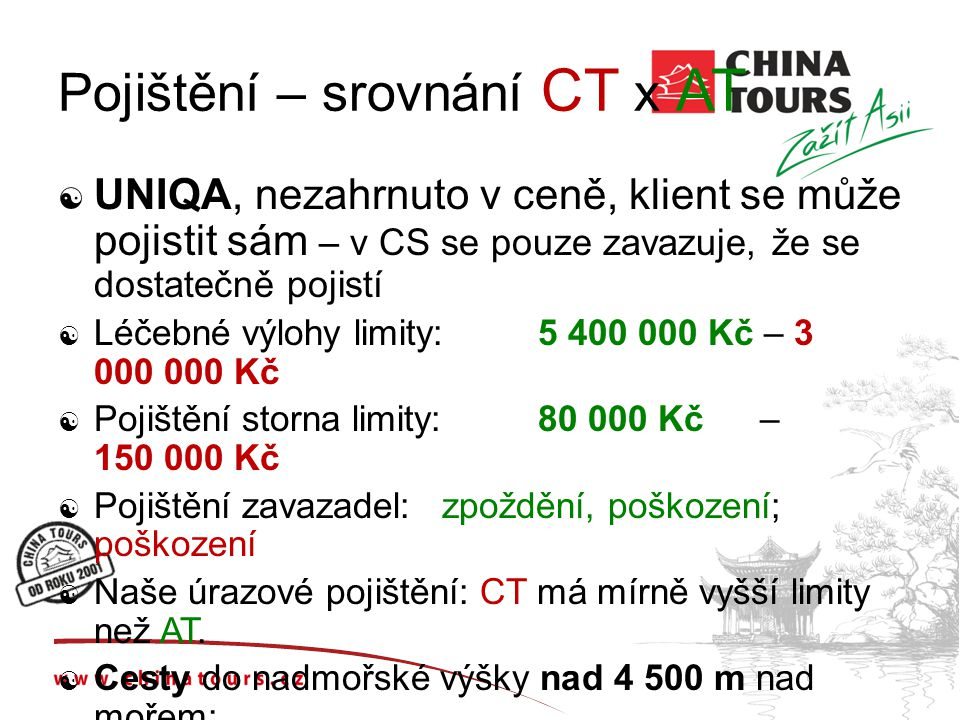 Pojištění – srovnání CT x AT