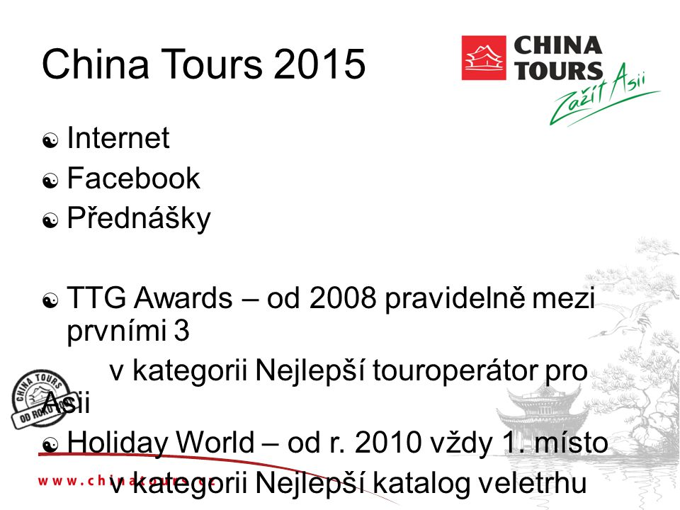 China Tours 2015 Internet Facebook Přednášky