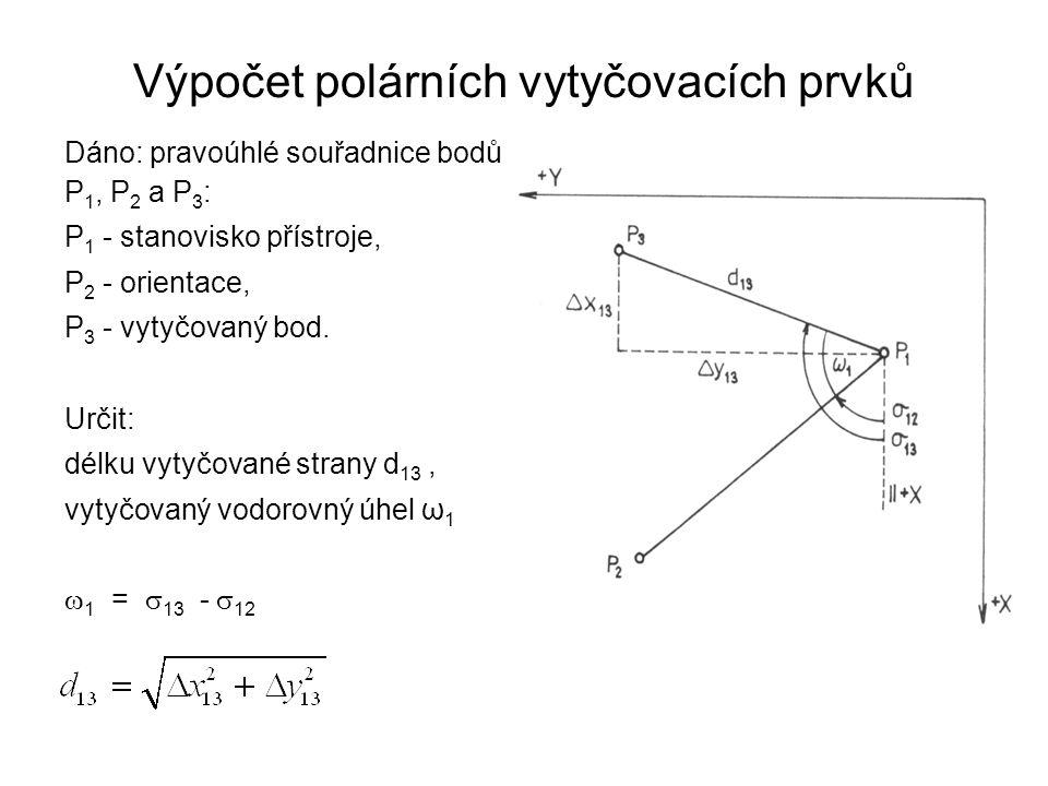 Výpočet polárních vytyčovacích prvků
