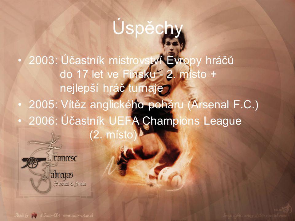 Úspěchy 2003: Účastník mistrovství Evropy hráčů do 17 let ve Finsku - 2. místo + nejlepší hráč turnaje.