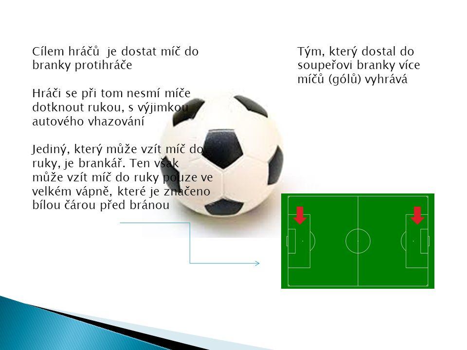 Cílem hráčů je dostat míč do branky protihráče