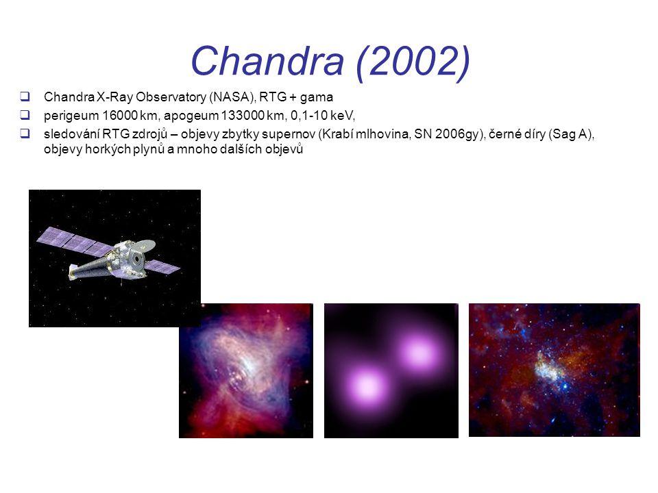 Chandra (2002) Chandra X-Ray Observatory (NASA), RTG + gama