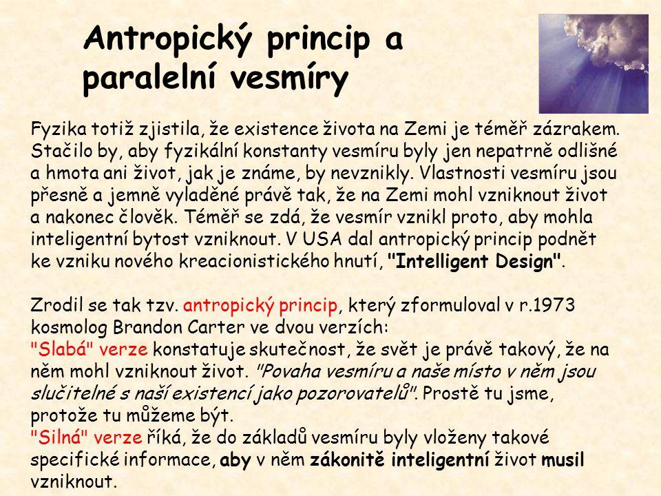 Antropický princip a paralelní vesmíry