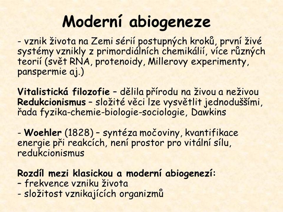 Moderní abiogeneze