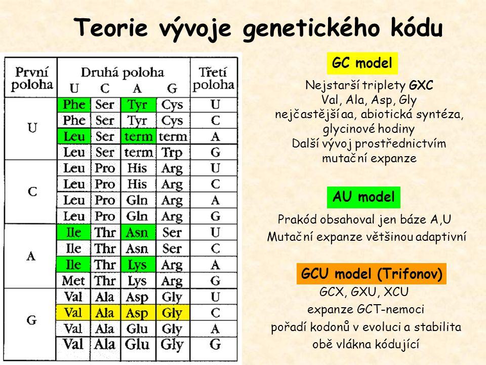 Teorie vývoje genetického kódu