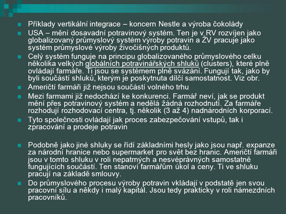 Příklady vertikální integrace – koncern Nestle a výroba čokolády