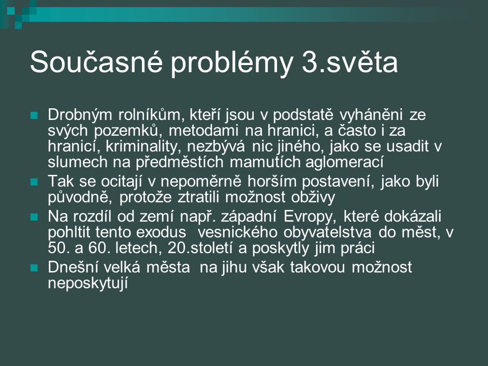 Současné problémy 3.světa