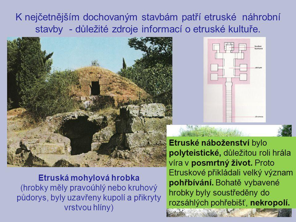 Etruská mohylová hrobka