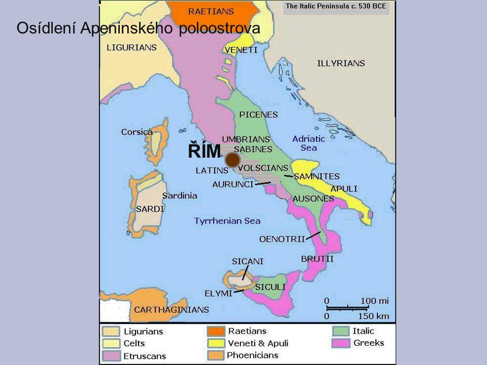 Osídlení Apeninského poloostrova