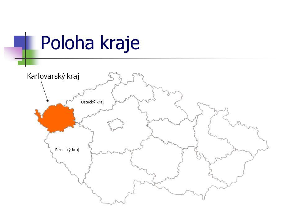 Poloha kraje Karlovarský kraj Ústecký kraj Plzenský kraj
