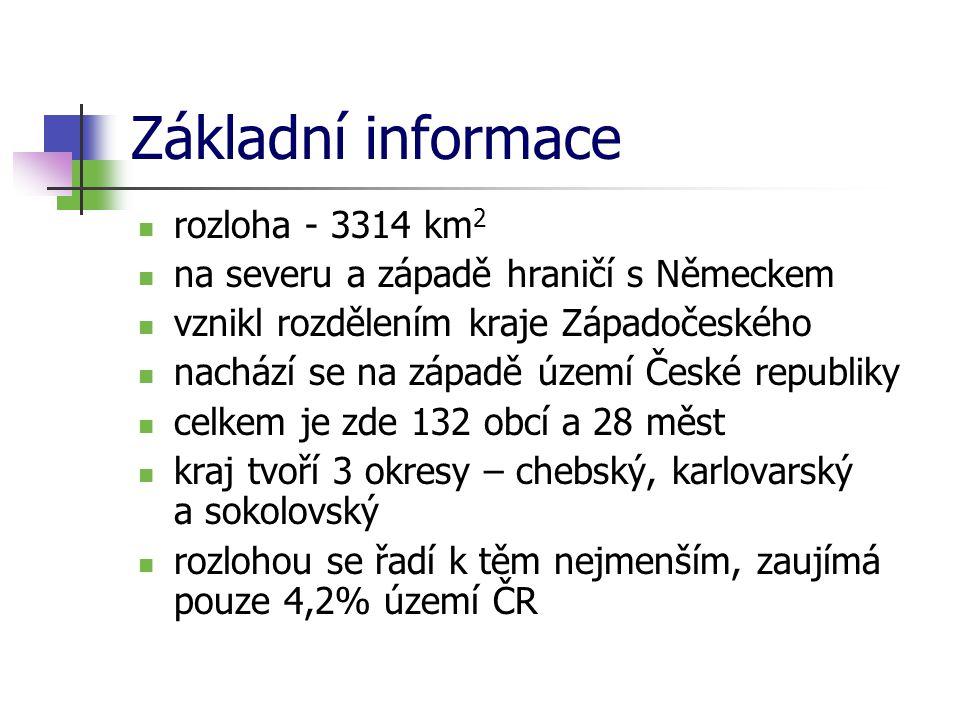 Základní informace rozloha - 3314 km2