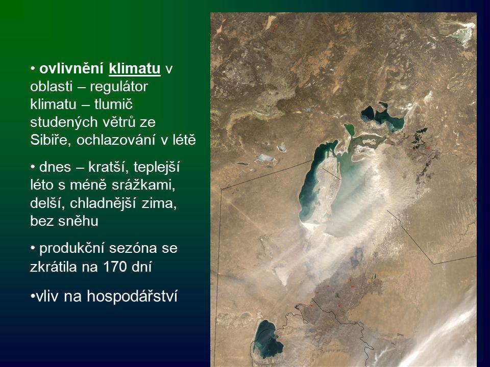 ovlivnění klimatu v oblasti – regulátor klimatu – tlumič studených větrů ze Sibiře, ochlazování v létě