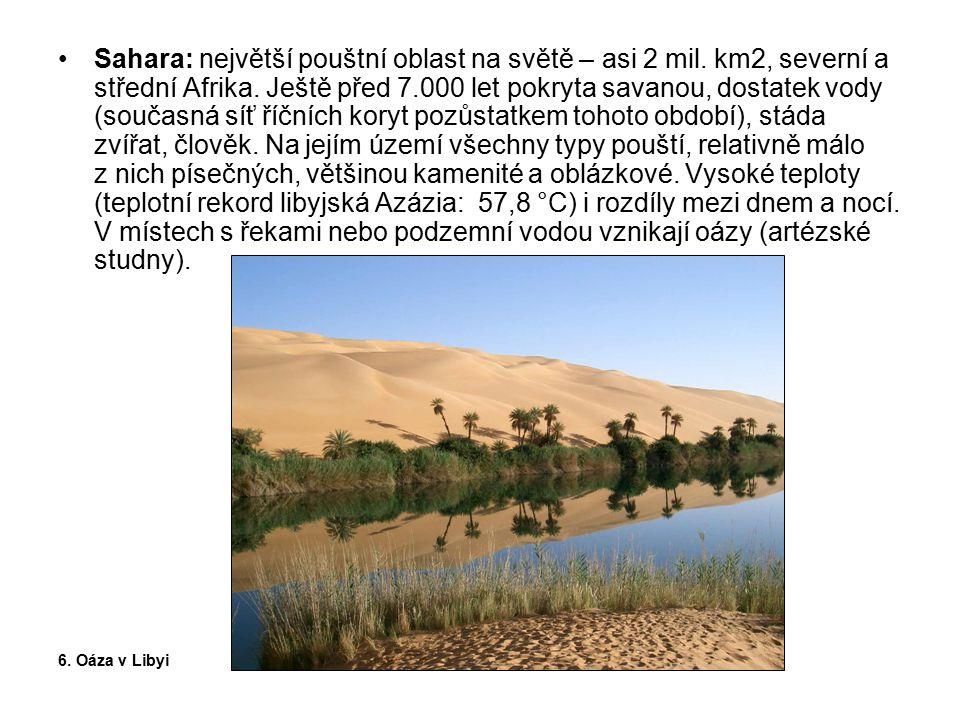 Sahara: největší pouštní oblast na světě – asi 2 mil