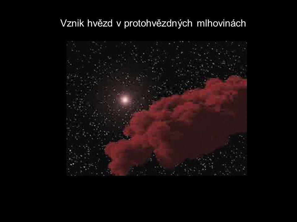 Vznik hvězd v protohvězdných mlhovinách