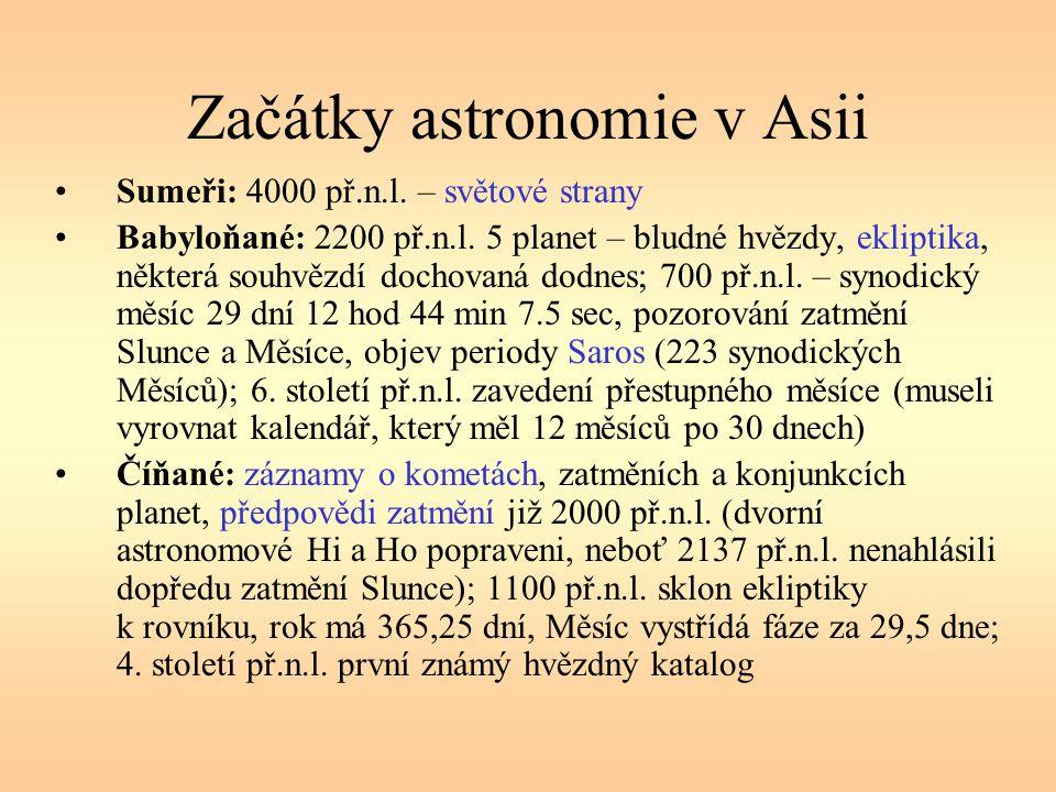 Začátky astronomie v Asii