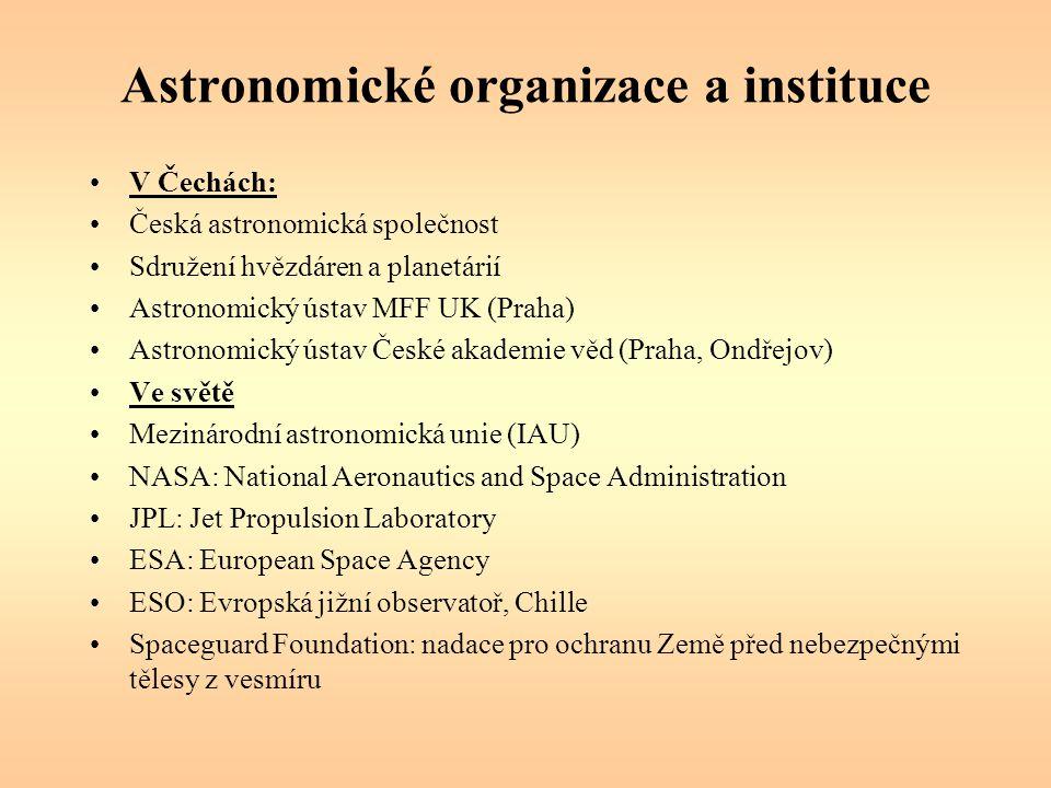 Astronomické organizace a instituce
