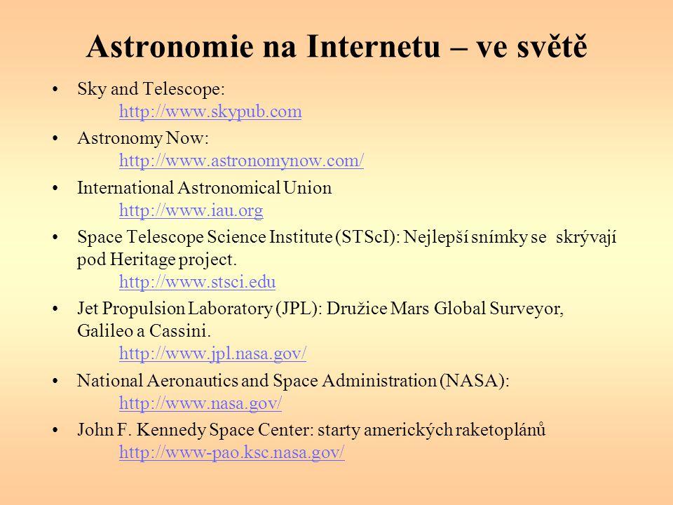Astronomie na Internetu – ve světě