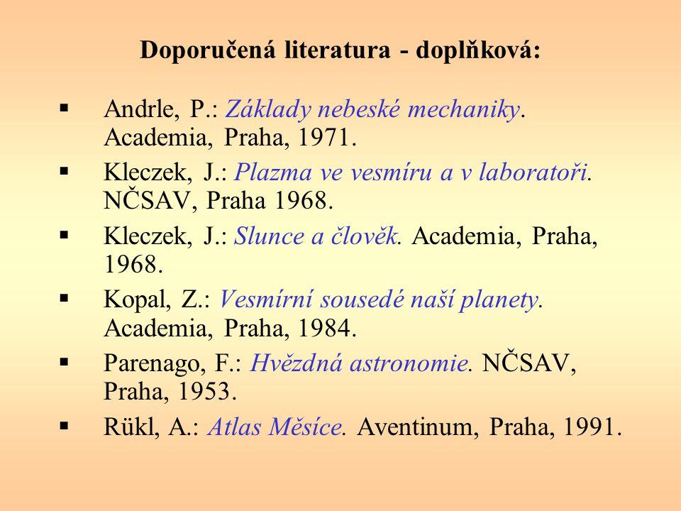 Doporučená literatura - doplňková: