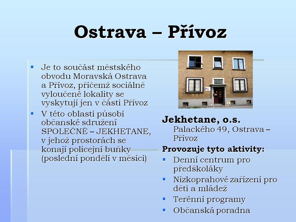 Ostrava – Přívoz Jekhetane, o.s. Palackého 49, Ostrava – Přívoz