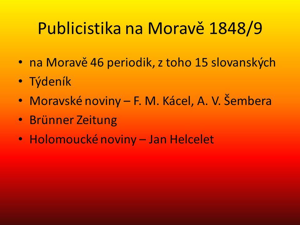 Publicistika na Moravě 1848/9