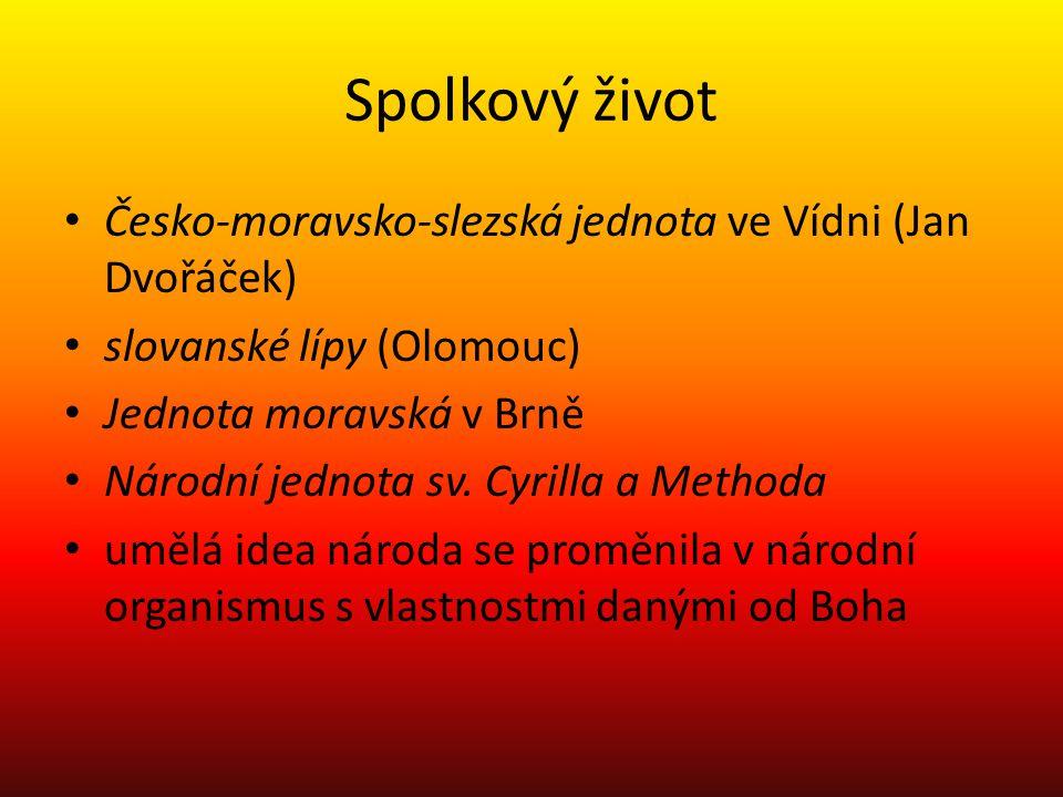 Spolkový život Česko-moravsko-slezská jednota ve Vídni (Jan Dvořáček)