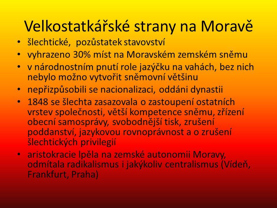 Velkostatkářské strany na Moravě