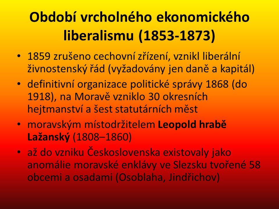 Období vrcholného ekonomického liberalismu (1853-1873)