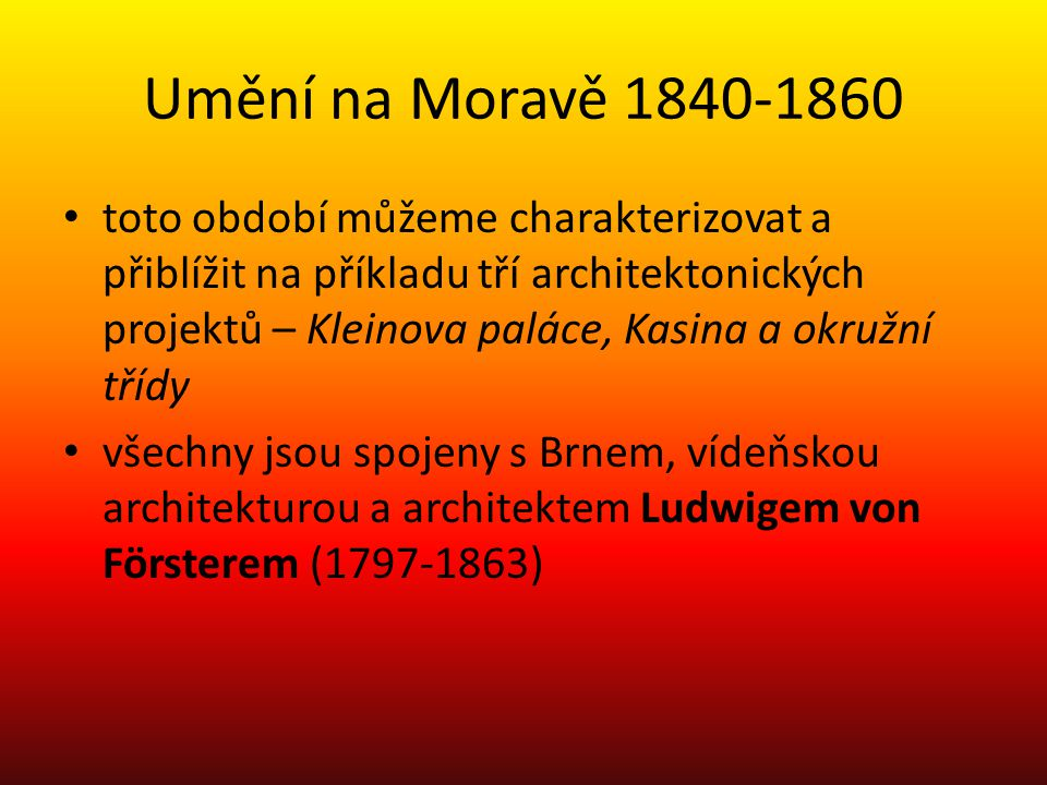 Umění na Moravě 1840-1860