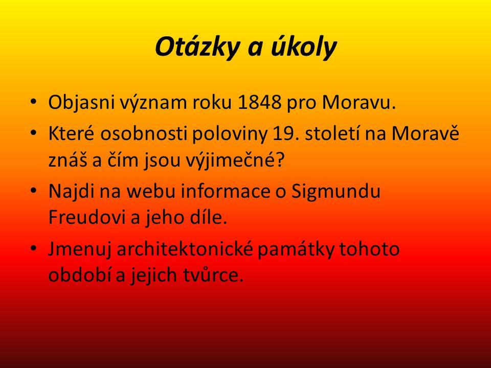 Otázky a úkoly Objasni význam roku 1848 pro Moravu.