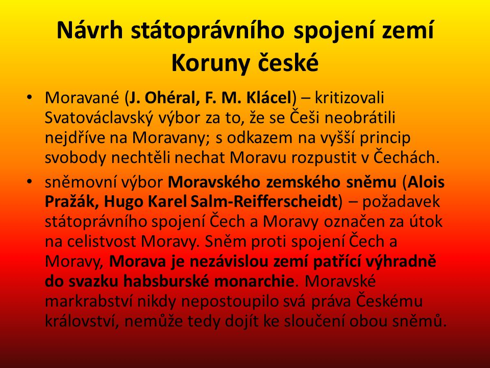 Návrh státoprávního spojení zemí Koruny české