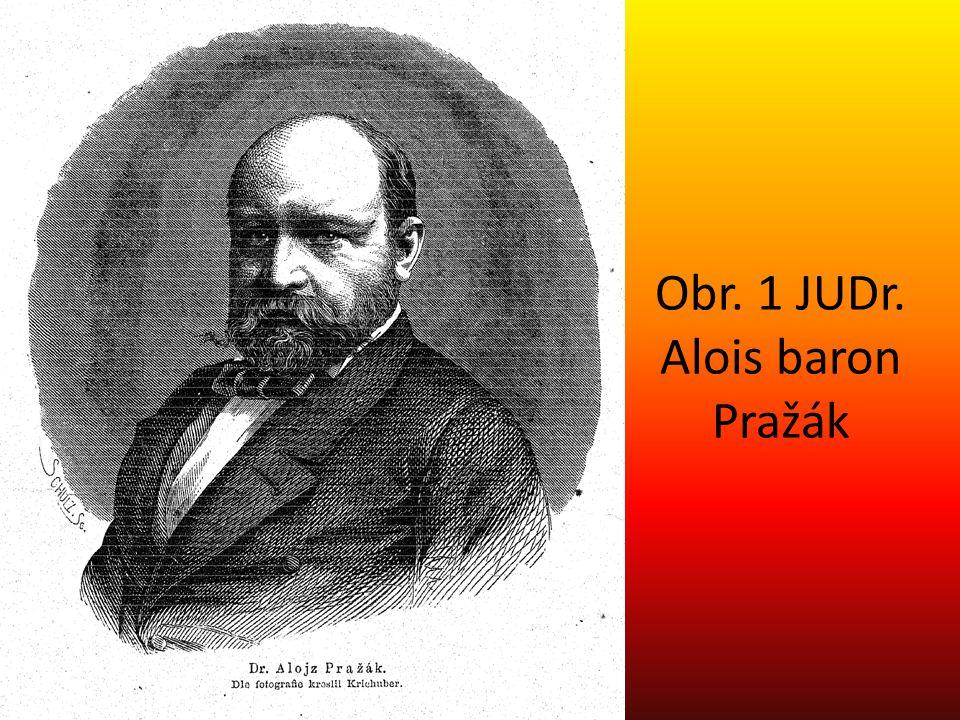 Obr. 1 JUDr. Alois baron Pražák
